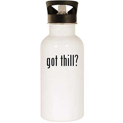 Shy Bite Float - got thill? - Stainless Steel 20oz Road Ready Water Bottle, White