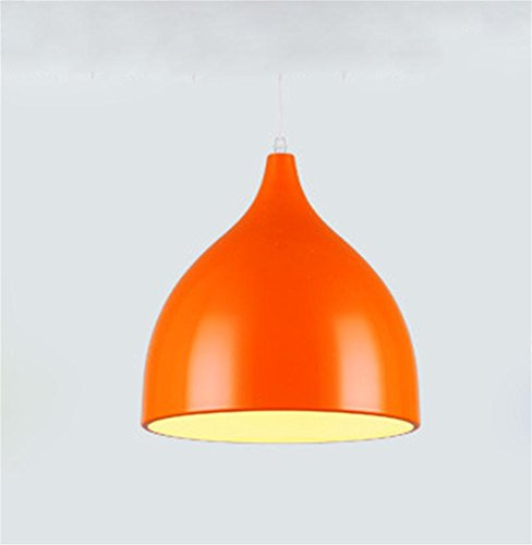 Lh&Fh Creative Nordic Brief Aluminum Pendant Light E27 For Store / Bedroom LED 220V Chandeliers , orange , medium
