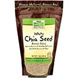 Blanco Salvia White Chia Seeds, 1 lb by Now Foods (Pack of 6)