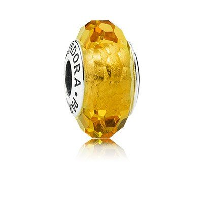 Pandora Golden Faceted Murano Charm 791629