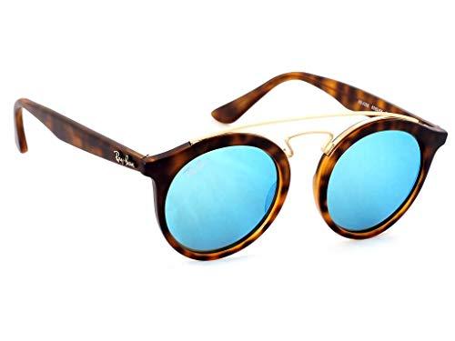 (Ray-Ban RB4256 GATSBY I Retro-modern Women Sunglasses (Tortoise Frame/Blue Mirror Lens 609255, 46))