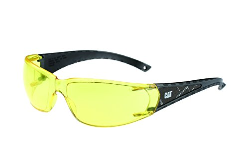 Caterpillar CSA-BLAZE-112 Filter Category 2-1.2 Yellow Lens Safety Glasses, - Glasses Frames Caterpillar