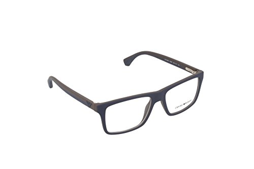 Emporio Armani EA 3034 Men's Eyeglasses Blue / Rubber Brown - Emporio Frames Armani Eyeglasses