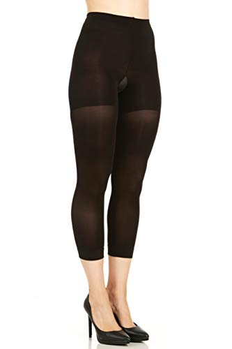 Spanx Tights Nylon - SPANX Tight End Tights Style 011A (F, Black)