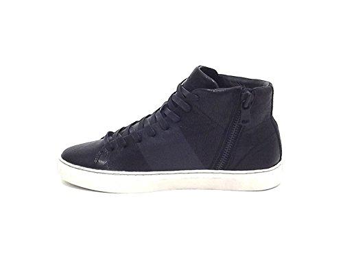 Crime uomo, 11281, sneakers pelle nero A6102