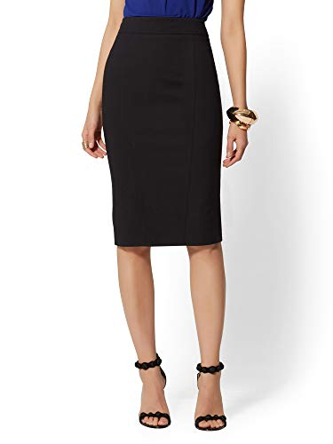 New York & Co. Women's Seamed Pencil Skirt - 4 Black (Skirt Fully Lined Pencil)