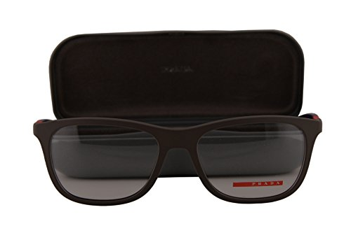 Prada PS04FV Eyeglasses 53-17-140 Brown Rubber w/Demo Clear Lens UR41O1 VPS04F VPS 04F PS - Sunglasses On Sale Prada
