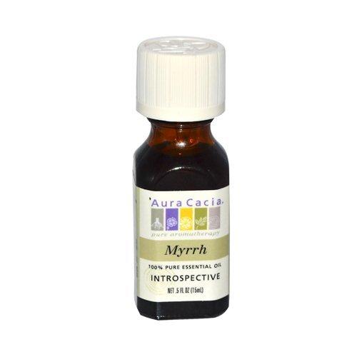 Aura Cacia 100 Percent Pure Myrrh Essential Oil, 0.5 Ounce - 3 per case.