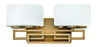 Hinkley 5102BR Contemporary Modern Two Light Bath from Lanza collection in Bronze/Darkfinish,