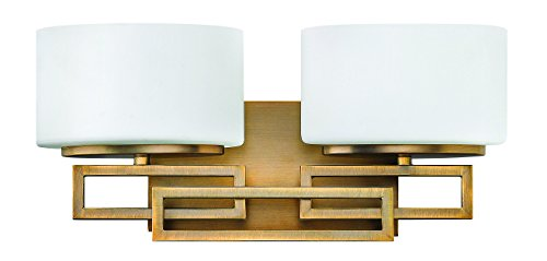 Hinkley Bathroom Lights (Hinkley 5102BR Contemporary Modern Two Light Bath from Lanza collection in Bronze/Darkfinish,)