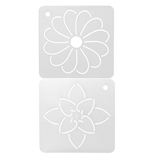 MonkeyJack 2 Pieces Plastic Flower Stencil Quilting Template Tool for Patchwork Painting