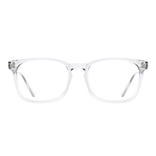 TIJN Blue Light Blocking Glasses Square Nerd Eyeglasses Frame Anti