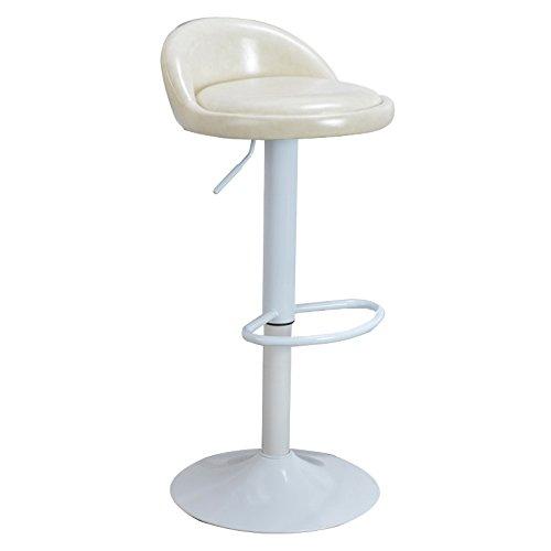 White Oil Wax bar Chair Lift bar Stool Fashion Simple Home Leisure Chair high Stool high 60cm-80cm (color   Yellow)