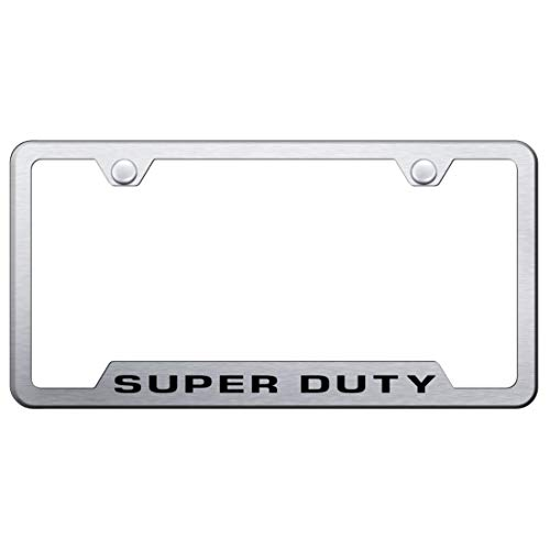 Ford Stainless Steel License Plate Frame F-250 F-350 F-450 Super Duty Laser Etched Stainless Made in USA Frame Satin Matte