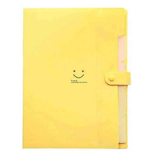 yamalans carpetas de plástico Oficina Multi organizador de bolsillo A4archivo expansión carpeta de documentos,...