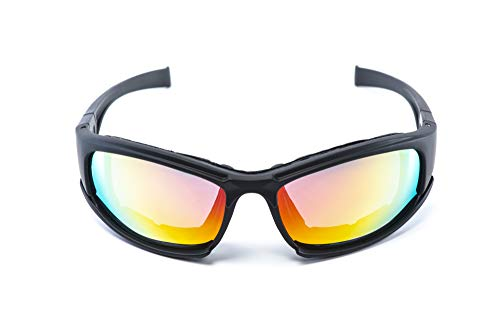 Tactical Glasses with Foam Padding for Shell Casings HACKETT EQUIPMENT Shooting Glasses with 4 Anti Fog UV400 Interchangeable Lenses and Hard Case