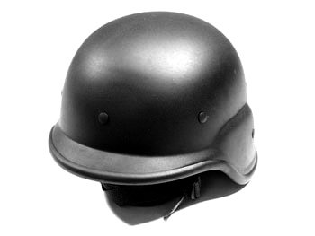 ABS Plastic Kevlar-Style Helmet BLACK (Abs Plastic Helmet)