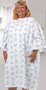 McKesson Gown Plus Size Cotton / Polyester Raindrops Adult
