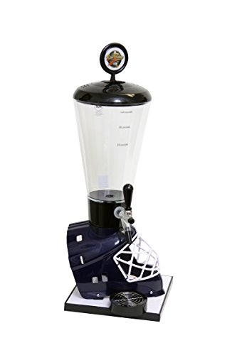 Beer Tubes Blue Hockey Helmet Beverage Tower Dispenser with Commercial Tap, 128 oz. Super Tube, HBL-ST-C by Beer Tubes