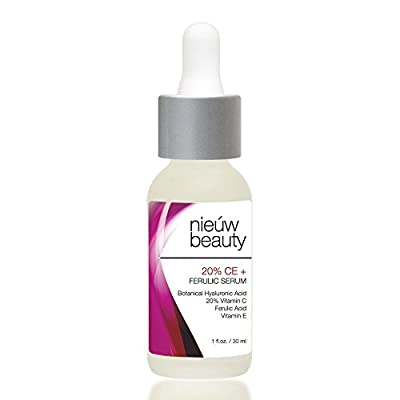 20% CE + FERULIC SERUM by nieuw beauty. Natural & Certified Organic, Anti-Aging, Skin Firming for Women & Men. Fortified Bio-Available Vitamin C, Vitamin E and Ferulic Acid. All skin types.