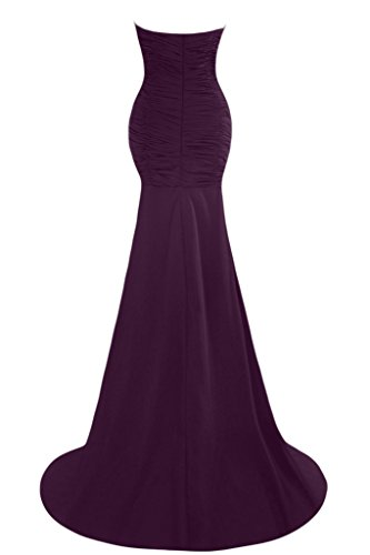 Sunvary gasa de sirena vestido largo de noche Prom para boda de dama fucsia