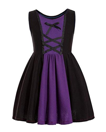 Waruila Evil Queen Costume Evil Queen CostumeKids Toddler Girls Dresses Maleficent (Black, 7-8T)]()