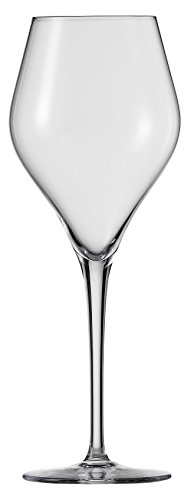 Schott Zwiesel Tritan Crystal Glass Finesse Stemware Collection Chardonnay White Wine Glasses (Set of 6), 13.0 oz, Clear