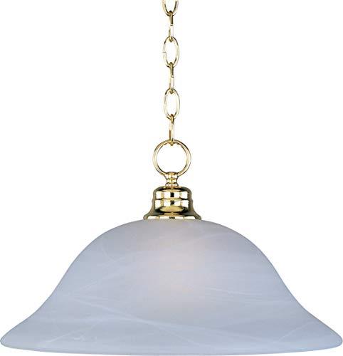 Maxim Lighting 91076MRPB 1 Light Pendant, Polished Brass Finish - Marble ()
