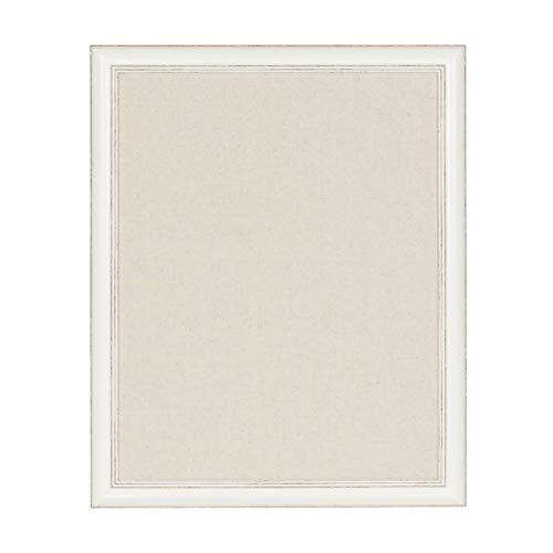 DesignOvation Macon Framed Linen Fabric Pinboard, 23x29, Soft White