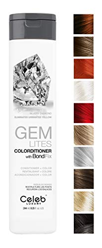 Price comparison product image Celeb Luxury Gem Lites Colorditioner: Silvery Diamond,  Hair Color Depositing Conditioner,  BondFix Bond Rebuilder,  Eliminates Unwanted Yellow,  10 Colors,  Stops Fade,  Cruelty-Free,  100% Vegan