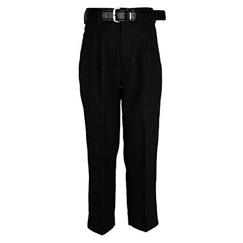 Bocaccio Boys Pleated Dress Pants With Belt Black 16 (Dress Boys Pants Pleated)