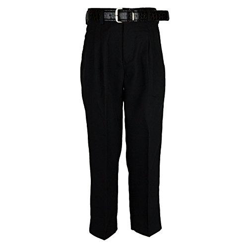 Bocaccio Boys Pleated Dress Pants With Belt Black - Pants Pleated Dress Boys