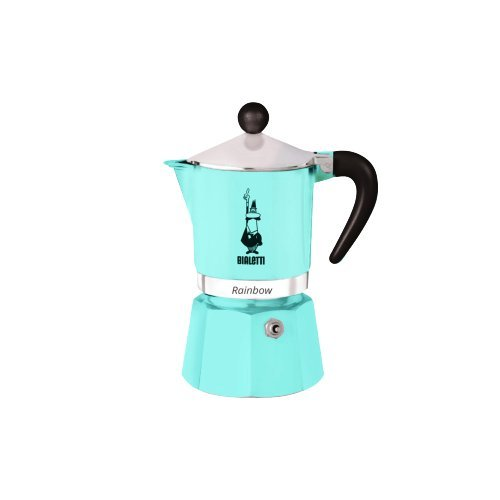 Bialetti 5042 Rainbow Espresso Maker, Light Blue