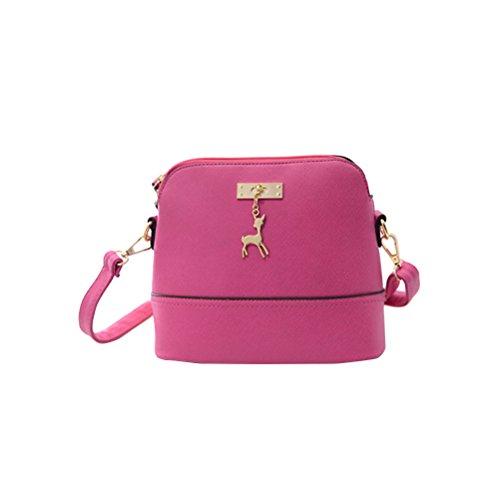 OULII Borsetta tracolla piccola per le donne e ragazze con cinghia di spalla regolabile in rosa
