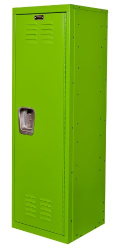 Hallowell Kid Locker, 15''W x 15''D x 48''H, 1134 Sour Apple (green), Single Tier, 1-Wide, Knock-Down