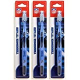 Siskiyou Tennessee Titans Toothbrush - 3 Pack