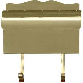 (Provincial Series Roll Top Wall Mount Mailbox in Smooth Polished Brass)