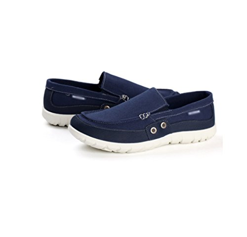 studenti scarpe pigri scarpe uomini un Estate scarpe scarpe stoffa di tela Blu pedale maschi scuro casual di WFL C7YqwvxE