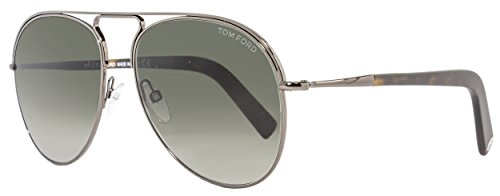 Tom Ford Sunglasses TF 448 Cody 08B Gunmetal - Tom Women Sunglasses Ford Aviator