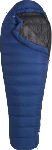 Marmot Helium MemBrain Long Down Sleeping Bag, Long-Left, Blue, Outdoor Stuffs