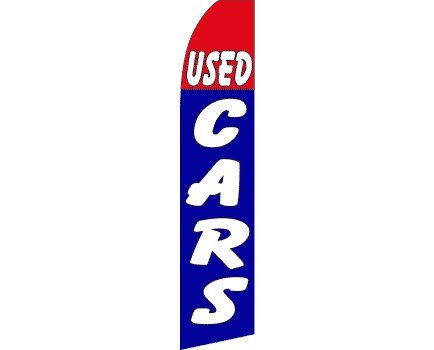 Used Cars (Red & Blue) Swooper Flag