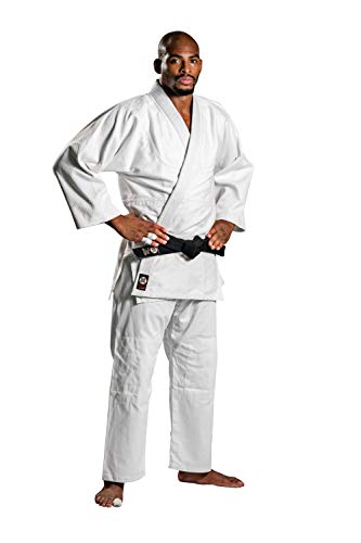 Ronin Judo Gi - Professional Made Martial Arts Uniform - Single Weave Bleach Kimono - Perfect for Competition or Training + White Belt (6) ()