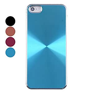 WEV Aluminum Whorl Pattern Back Case for iPhone 5/5S(Assorted Colors) , 4