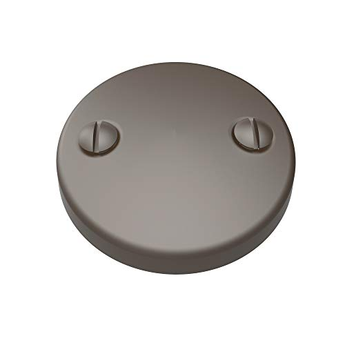 (Brasstech 266/10B Two-Hole Faceplate For Waste and Overflow, Oil Rubbed Bronze)