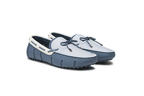 SWIMS Braided Lace Loafer DT Slate/White E0gS2zNJLJ
