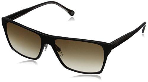 Jack Spade Men's Hughes Rectangular Sunglasses, Matte Black/Brown Gradient, 59 - Sunglasses Face Men Oval For