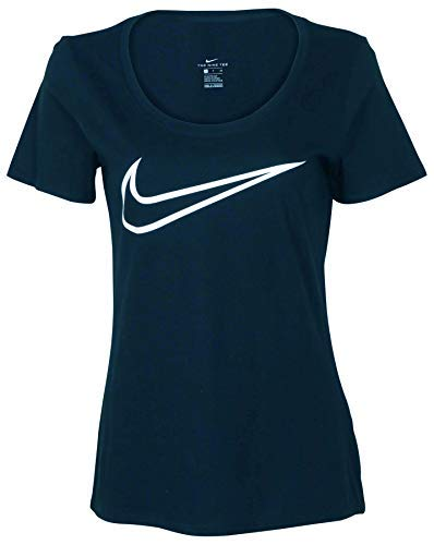 Nike Women's Swoosh Logo Scoop Tee-Armory Navy-Small]()