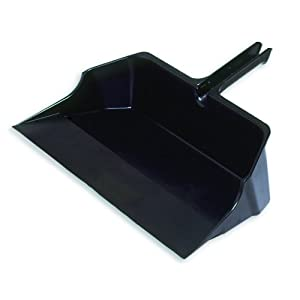Rubbermaid Commercial 22 Inch Jumbo Heavy Duty Dustpan, Black (FG9B6000BLA)