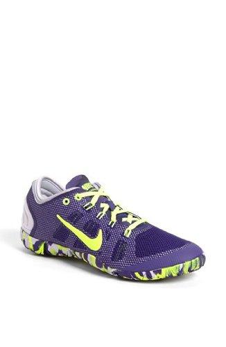 Womens Nike Free Bionic Training Shoe Court Purple/Violet Frost/Volt Size 10 (Nike Cross Bionic Shoes Women)