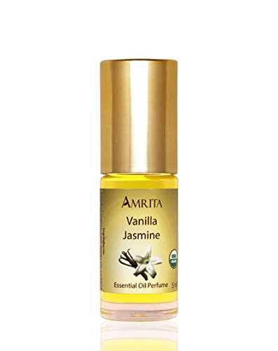 AMRITA Aromatherapy: Vanilla Jasmine Essential Oil Perfume - USDA Certified Organic & Alcohol-Free - Blended with Premium Therapeutic Quality Essential Oils - Size: ()